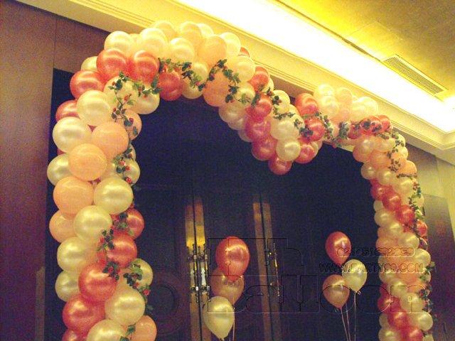 婚礼气球布置 wedding