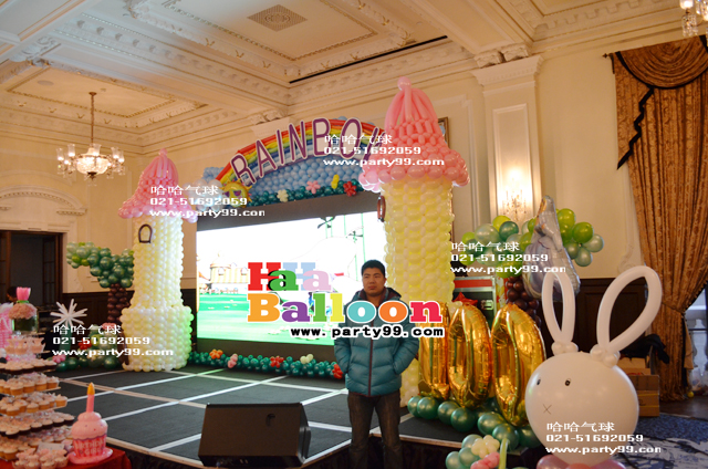 主题 气球 布置/用长条气球和圆形气球来组合成各种气球造型,这在生日庆典商务...