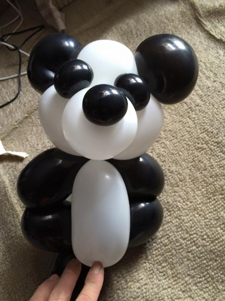 熊猫气球造型图解教程