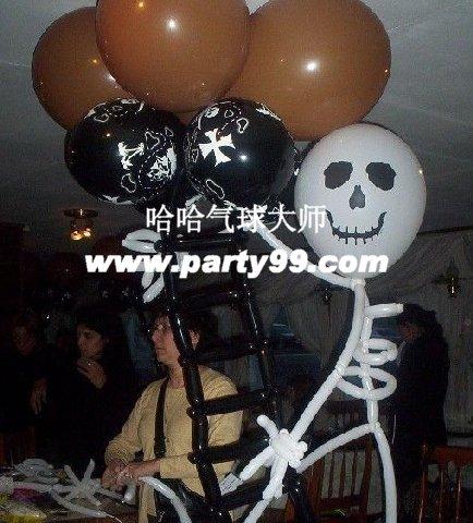 DIY万圣节气球装饰