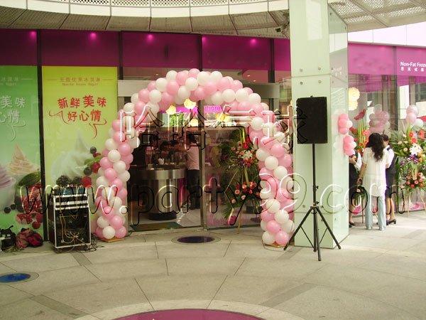 店门装饰-气球拱门
